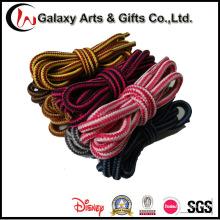 Hot 120cm Polyester Runde zweifarbige Stiefel Schnürsenkel für Erwachsene