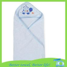 Bamboo Cotton Infant Hooded Bath Towel With String