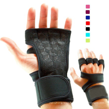 Gants de levage de poids des hommes des femmes avec Wrap Wrap pour WOD Gym Workout Cross Training Fitness 5 couleurs Taille S-XL