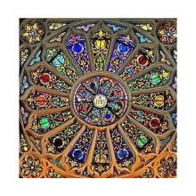 Custom glass dome stained glass ceiling dome for hotel or house glass roof skylight decor