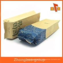 Gisement latéral imprimé à imprimé personnalisé sac en papier kraft pour emballage alimentaire