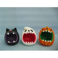Abóbora de Halloween cerâmica artes e ofícios (LOE2373-11)