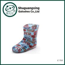 Cargadores de lluvia de goma de niños para niños botas de agua C-705