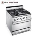F9080GGR Garantie de qualité professionnelle 4 brûleurs Cuisinière au gaz avec cuisinière série Four