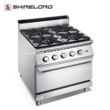 Cocina de gas profesional de la hornilla de la garantía de calidad F9080GGR 4 con la estufa de la serie del horno