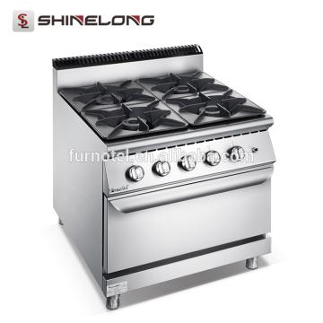 Качество F9080GGR гарантируем Профессиональный 4-х конфорочная газовая плита с духовкой плитой