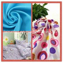 Pongé de polyester imprimé pour le tissu de vêtement et de rideau