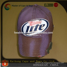 Bierflaschenöffner Hut mit 3D Stickerei Logo