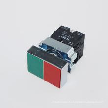 Yumo Lay5-Bl8325 IP40 220V Doble interruptor de botón de bajo voltaje