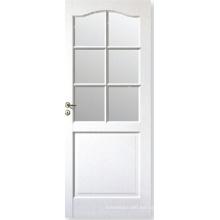 Puerta de cristal de ventana moderna del estilo del diseño casero / puerta compuesta blanca