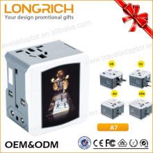 Enchufe del adaptador al por mayor al adaptador universal universal del puerto del USB de Uk / us / au / us