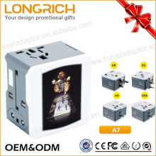 Wholesale adapter plug to Uk/us/au/us multi function USB port universal adapter