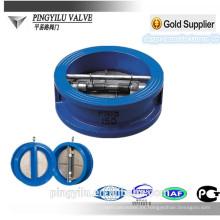 Tipo de oblea de hierro gris placa de doble placa de válvula de retención mariposa de muelle conjunto de válvula de retención de precio para el proveedor de desechos de China