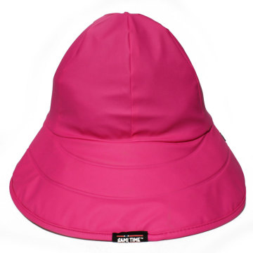 Rose Red PU Rain Hat /Rain Cap/Raincoat for Adult