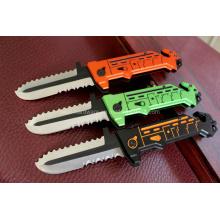 """7.8 """"cuchillo de caza de aluminio de la manija (SE-0522)"""