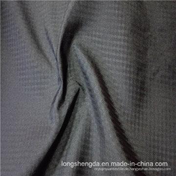 Wasser & Wind-beständige Anti-Static Sportswear Gewebte Plaid Jacquard 100% Polyester Stoff (E153)