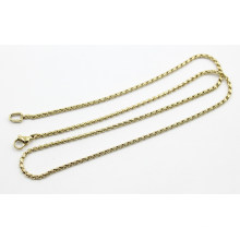 Gold Plated Stainless Steel 2mm Twist Chain