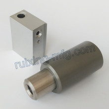 Customized Machining Aluminum Block and Bushing with Hard Anodized 70um
