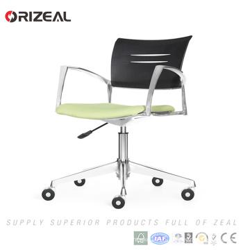 Orizeal Alibaba online shopping mesh computer task chair, meeting chair, green reception chair(OZ-OCV010B)