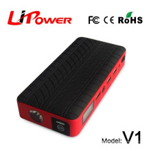 portable 12800mAh power bank car battery booster charge for mobilephone laptop 3C FCC multi-function jump starter