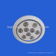 Gx53 led 9 * 2W bridgelux led AR111 13W projecteur conduit