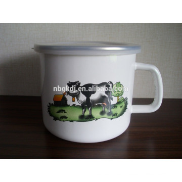 enamel milk mug