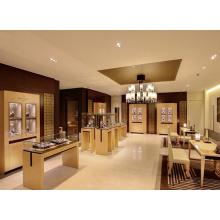 Decoración de la tienda de reloj de moda reloj de madera pantalla escaparate