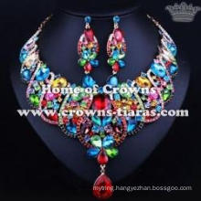 Fashion Crystal Necklace Set With Blue Diamondswestern necklace set