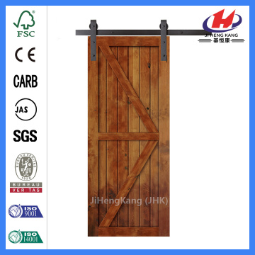 JHK-SK09 Industrial Sliding Popular Interior Wooden Barn Door