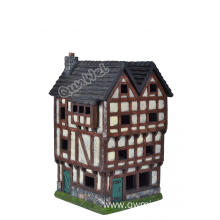 1/24 scale poy resin dollhouse in multicolors