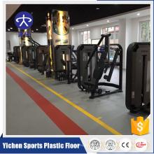 tapis de gymnastique de PVC de dos de mousse futsal en plastique pp