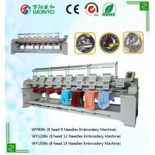 Máquina de bordar de cabezales múltiples con precio de Chape