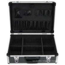 Metal Power Tool Carry Storage Case with Organizer and Aluminum Frame