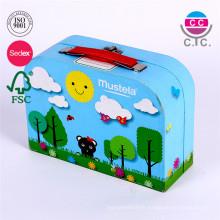 Hot vente boîte de rangement en papier bleu mignon pour les enfants