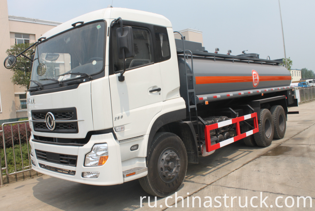 Dongfeng 15000 liters hydrochloric acid tank truck
