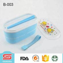 shunxing nueva llegada producto ecológico niños bento caja con 2 capas