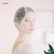 Nuevo velo de novia que viene Velo nupcial corto del estilo