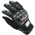 Professionelle benutzerdefinierte schützende schwarze Pro Biker Handschuhe hohe Qualität Leder Motorrad Handschuhe zum Verkauf