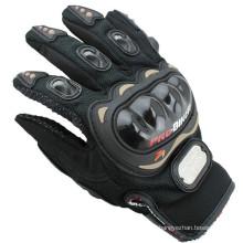 Guantes profesional profesional de protección del motorista negro guantes de moto de alta calidad para la venta