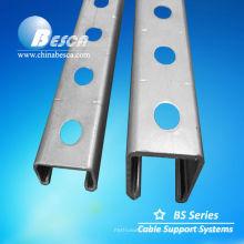 Canal de acero en forma de C galvanizado (UL, SGS, IEC y CE)