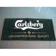 100% Baumwolle Bar Handtuch mit gedruckten Logo (SST3010)