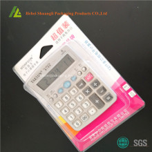 Blister clamshell packaging for calculator