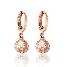 26757 joyería musulmana pendiente de oro, moda pendientes de gota de bronce diseños nuevo modelo de joyería de cobre ambiental para mujeres