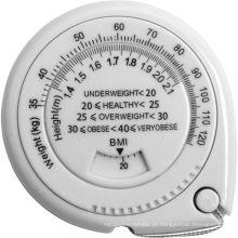 Fita métrica personalizada para medição de gordura corporal