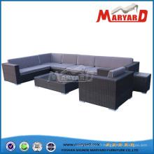 Sofa en osier extérieur de meubles