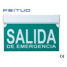 Señal de salida del LED, luz de emergencia, LED salida de emergencia, signo de LED Salida