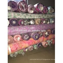 Uma qualidade de qualidade impresso Chiffon estoque tecido para pano mulher