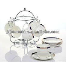 Underglazed de porcelana de gres drinkware té café conjunto taza y platillo