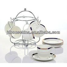 Grès en porcelaine en sous-verre boisson à thé cafetière thé cafetière et soucoupe