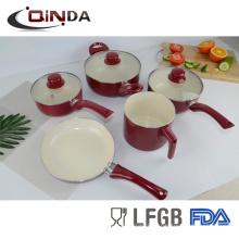 7шт Бразилии горячие продажи продуктов алюминиевую посуду с керамическим покрытием наборы кухонных